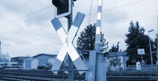Verkehrszählung an einem Bahnübergang in Kloster Moosen